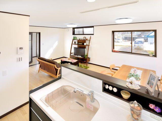 長岡市「オーバースライダーが顔のインナーガレージの家」