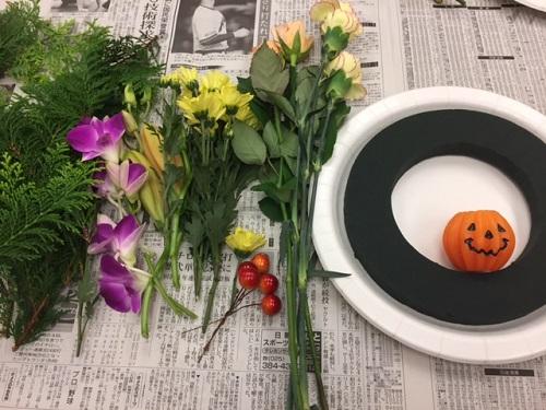 ミモザハロウィンアレンジ 材料